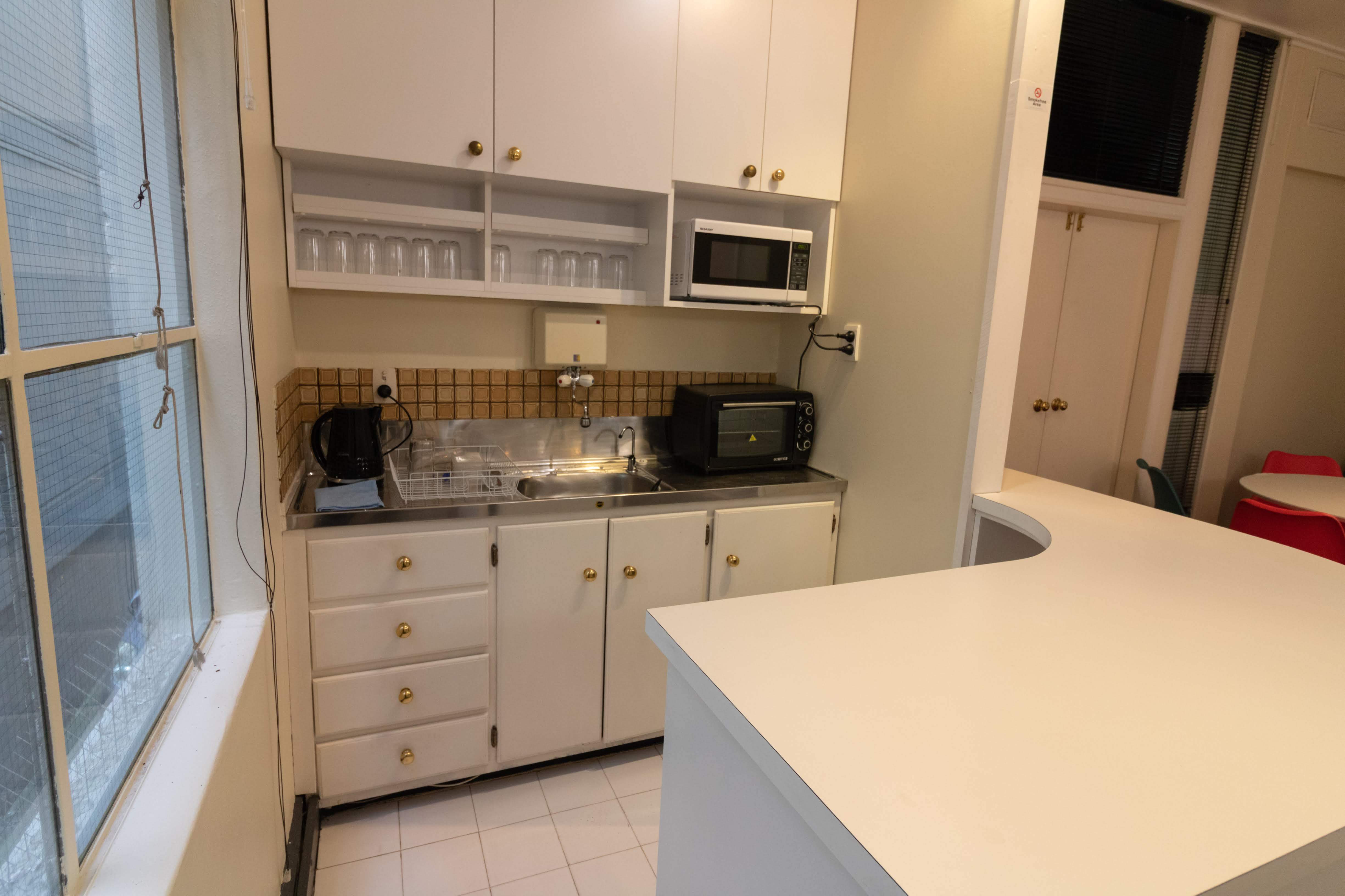 shared office kitchen facility, Wellington