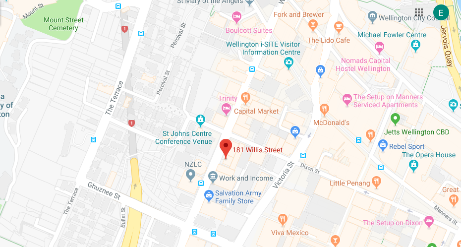 map of commercial lease buildings, Wellington